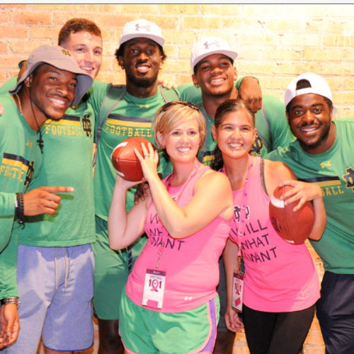Kelly Cares Hosts 8th Annual Football 101 at Notre Dame Stadium