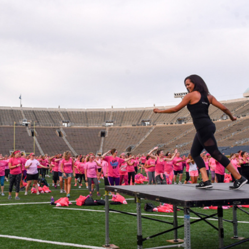 Kelly Cares Kicks Off Paqui's Playbook Series with Pink Out Zumba